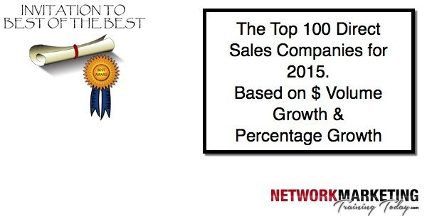 Top Direct Selling Companies for 2015