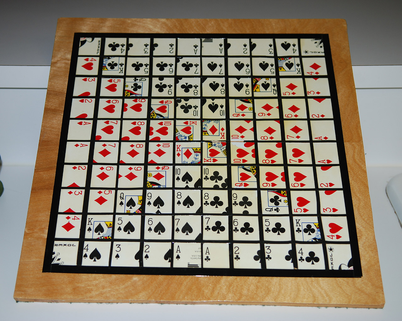 Homemade Sequence Game Board