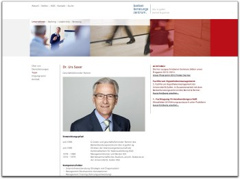 Corporate Website Bankenberatungszentrum St. Gallen
