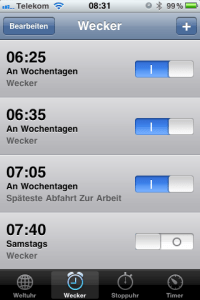 iphone wecker bug unter iOS 4.1