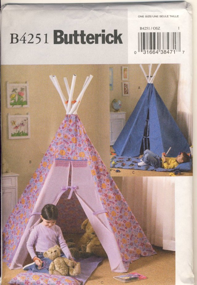 TeePee Tent Pattern
