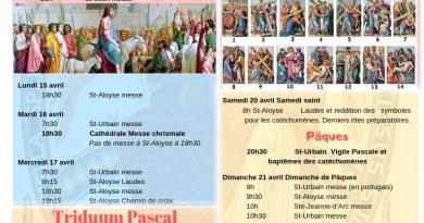 Semaine Sainte : programme, invitations…