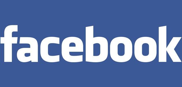 Facebook Logo weisse Schrift auf blauem Hintergrund