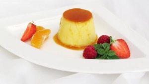 Schnelles Dessert Gericht auf dem Teller