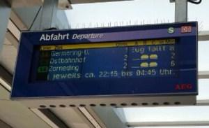 """München: """"Reisezeit-Boni"""" statt Verspätung"""