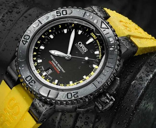 Die neue Oris Aquis Depth Gauge Yellow: Zurück in die Tiefe