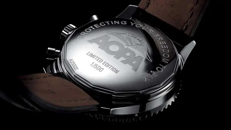 Breitling Navitimer-AOPA mjt Lederband, limitierte Auflage