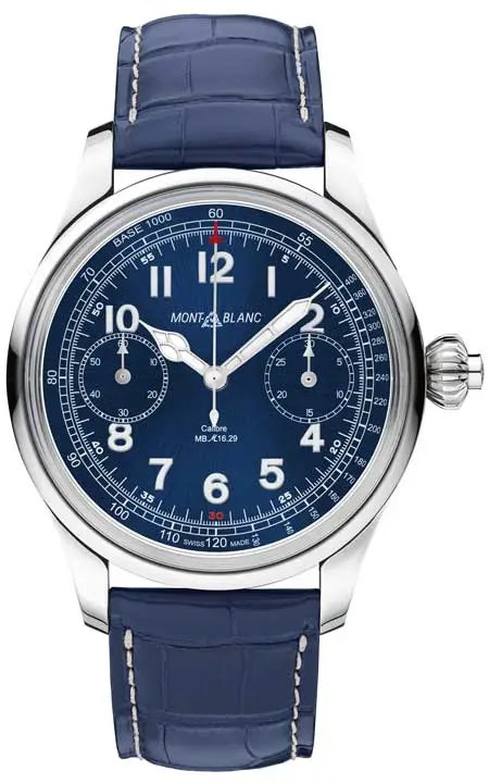 Montblanc 1858 Chronograph Tachymeter Blue Limited Edition