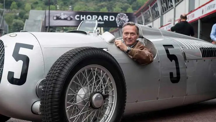 Carl-Friedrich Scheufele in the Auto Union C-type racing car