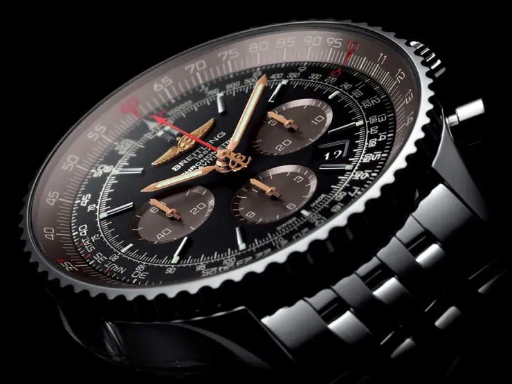 Eleganz in schwarz-braun: Navitimer 01 (46 mm) Limited Edition