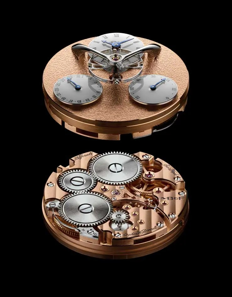 MB&F Legacy Machine Split Escapement Engine Red Gold