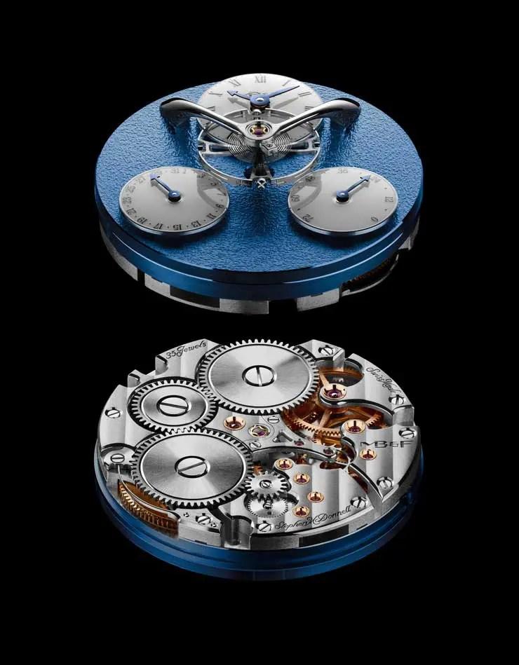 MB&F Legacy Machine Split Escapement Engine Blue