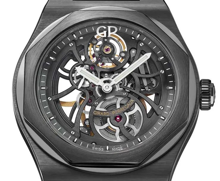 SIHH-Preview: die Girard Perregaux Laureato Skeleton Ceramic