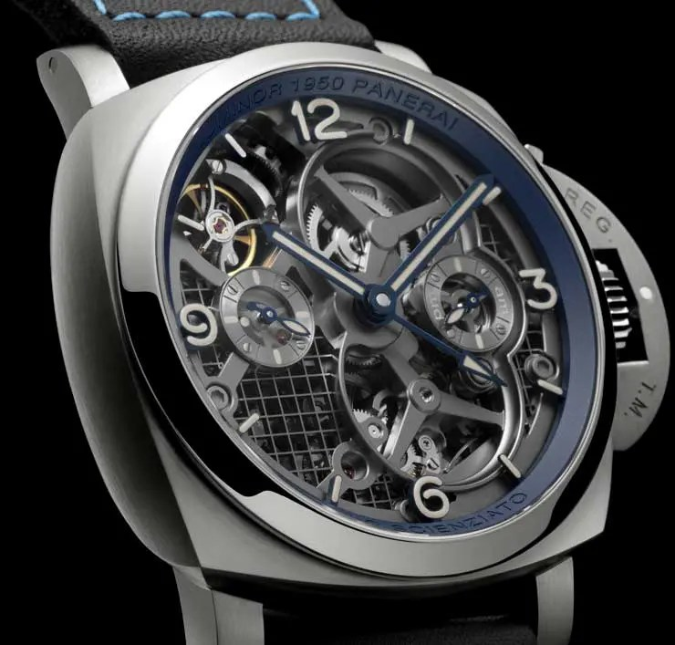 Panerai Lo Scienziato Luminor 1950 Tourbillon GMT Titanio