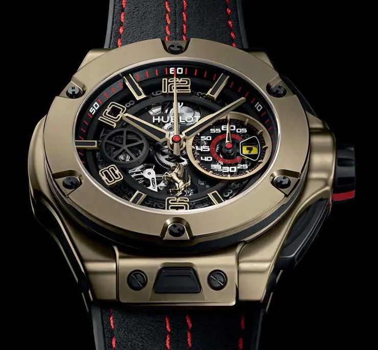 auf 250 limitiert hublot big bang ferrari magic gold. Black Bedroom Furniture Sets. Home Design Ideas
