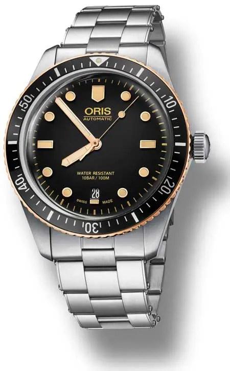Oris Divers Sixty-Five mit einem Hauch von Bronze