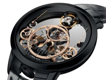 Zeit-Skulptur: Arnold & Son Time Pyramid Black Edition