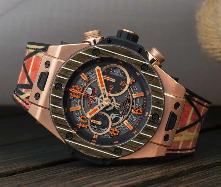 Hublot maritim: Big Bang Unico Teak Italia Independent