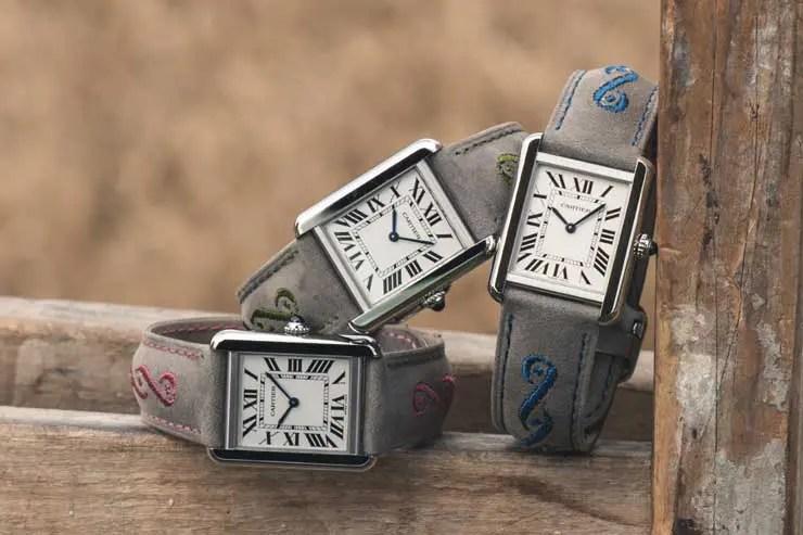 Uhrenbänder in Trachtenoptik von Cartier