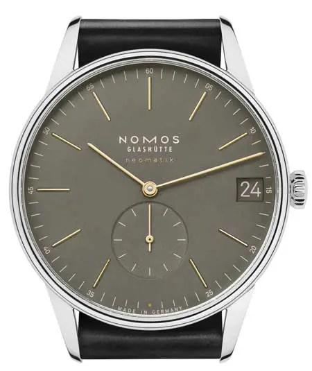Nomos Orion jetzt auch in olivgold und nachtblau