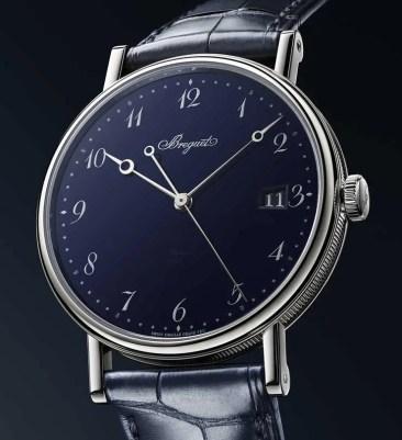 Blaues Grand Feu-Email für die Breguet Classique 5177