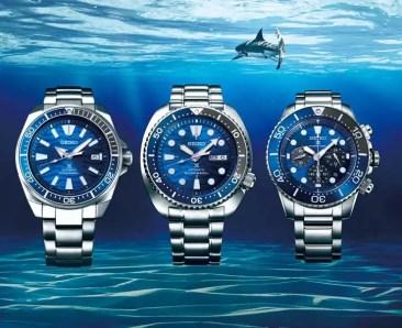 Neue Seiko Save the Ocean Modelle in frischem Design