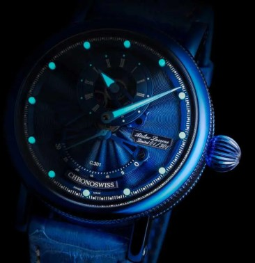 Limited Edition Electric Blue: Flying Grand Regulator Open Gear ReSec