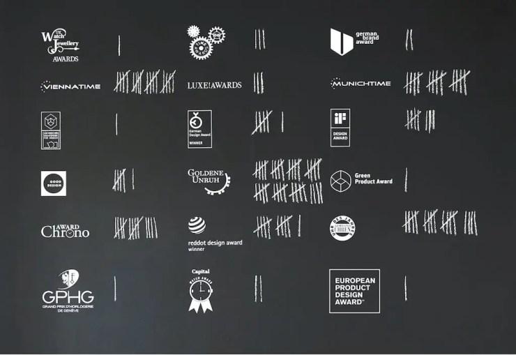 Nomos Awards wall