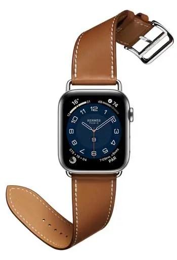 Apple Watch Hermès Series 6 mit Armband Single Tour Attelage
