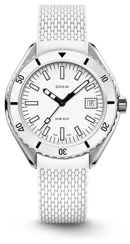 450.rubb Doxa SUB 200 Whitepearl