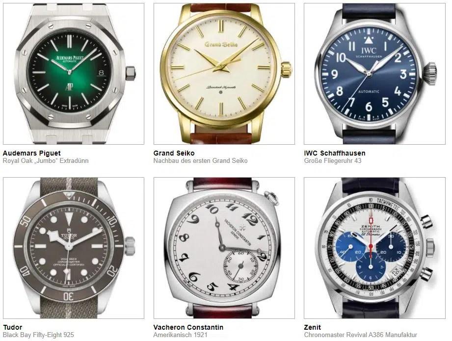 gphg 2021 nominierte Uhren kategorie ikonen