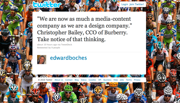 """""""We are now as much a media-content company as we are a design company."""""""