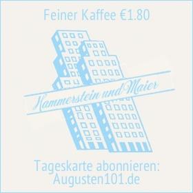 Hammerstein & Maier Espresso Bar in der Augstenstr. 101