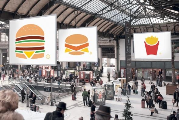 Ohne Marke, McDonald's Aussenwerbung von TBWA Paris.