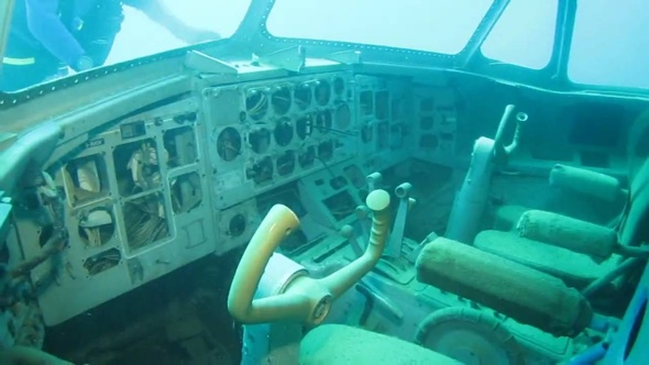 Diving in Capernwray on the new Plane Wreck Source: YouTube