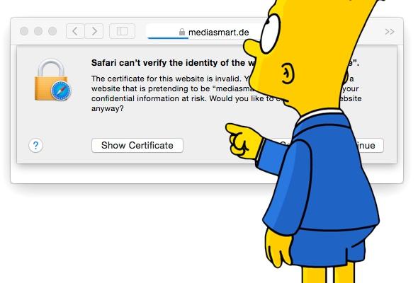 Bart Simpson stolpert über mediasmart.de
