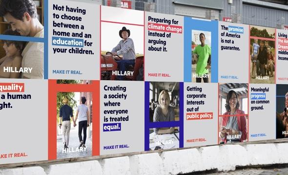 Hillary Plakate von Moving Brand.
