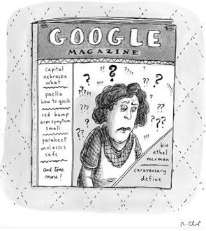 Ein Magazin mit Titel Google Magazin von Roz Chast.