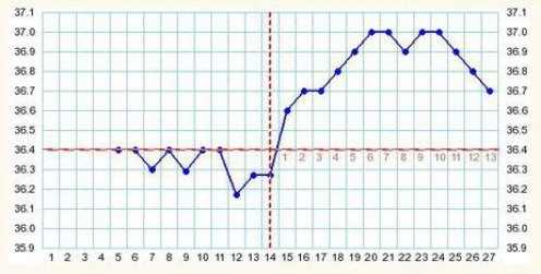 ex de courbe de temperature date dovulation