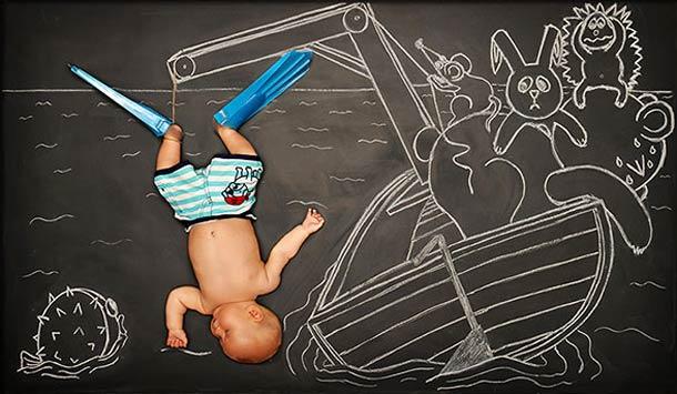 Quand bébé rêve maman dessine