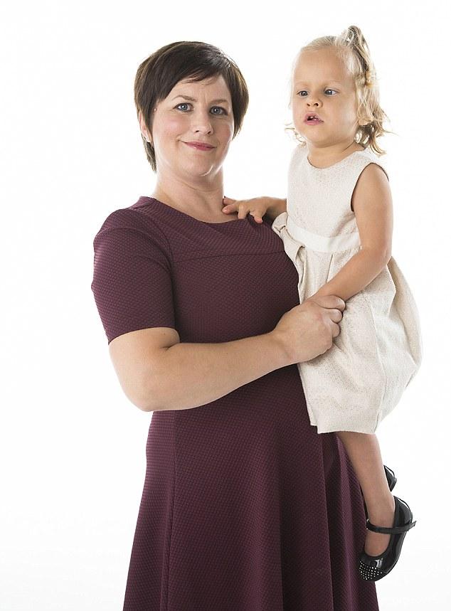 Jackie et sa fille de trois ans Anais