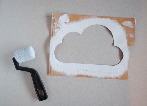 nuage au mur decoration chambre bebe