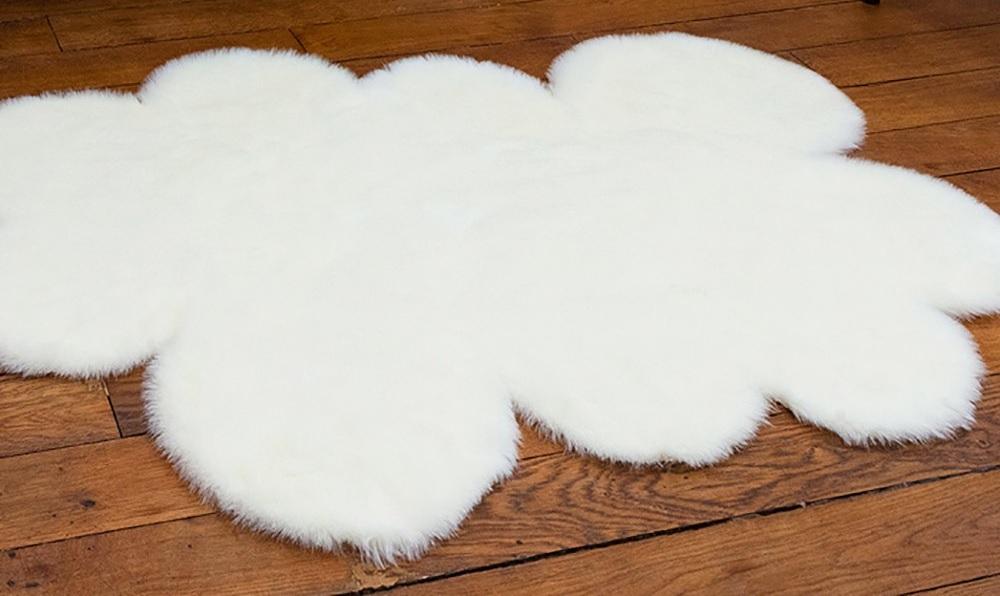 diy un tapis en forme de nuage pour
