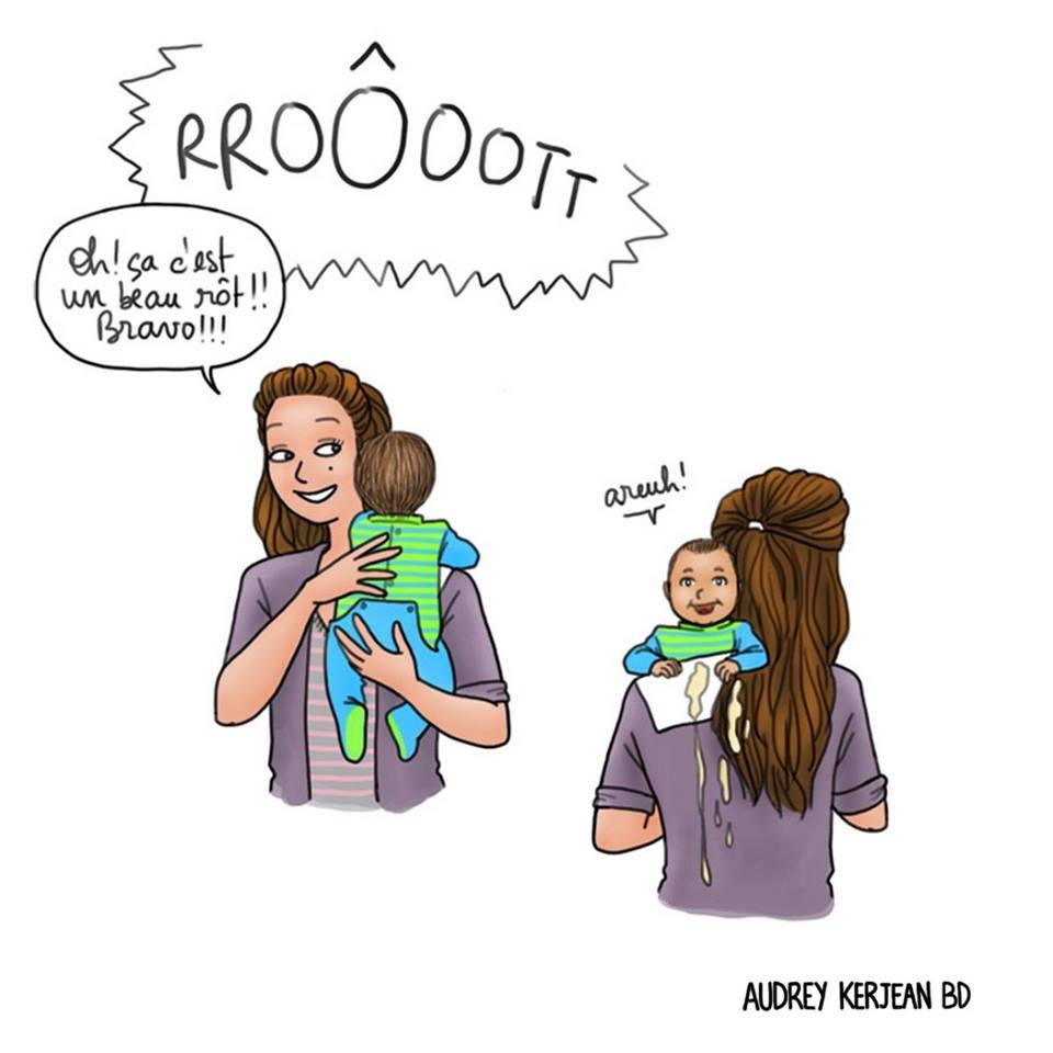 quand bebe a bien mange