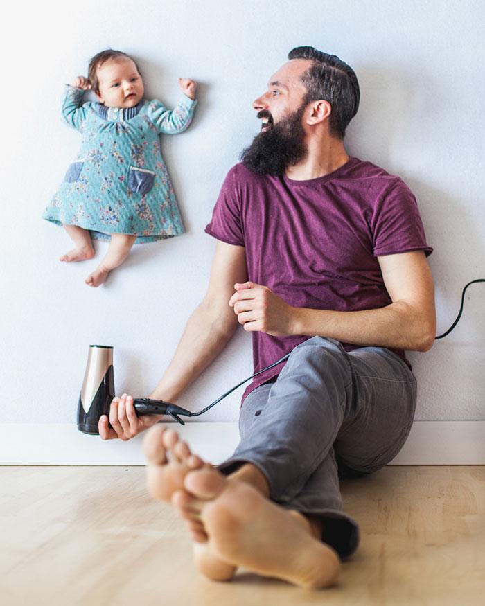 Papa fait de belles photos avec sa fille 2