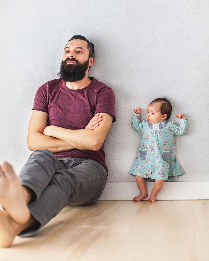 Papa fait de belles photos avec sa fille 7