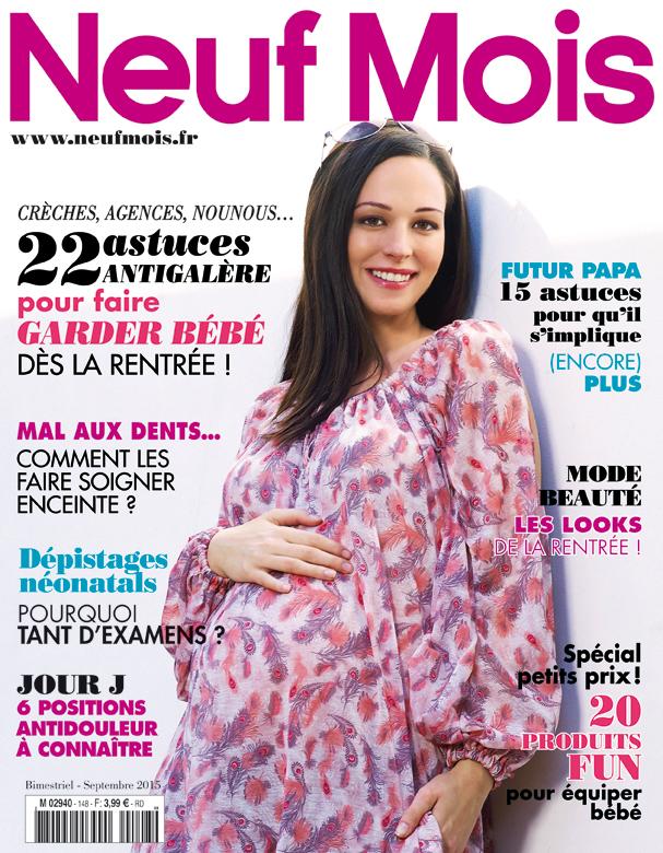 couverture magazine neuf mois aout 2015