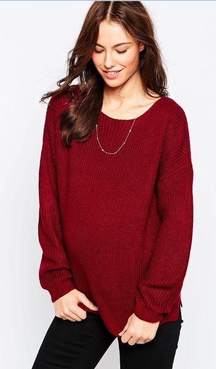 Pour une touche de couleurs à tous vos looks, on mise sur ce pull doux et décontracté, à la coupe ample et aux épaules tombantes. Un vrai vêtement cosy idéal pour la grossesse. Pull en maille épaisse, Asos, 38,99 euros.