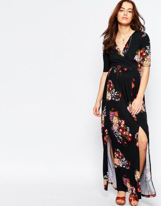 Asos Maternity maxi robe floral