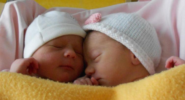 Juliette et Clémence, nées le 13 février